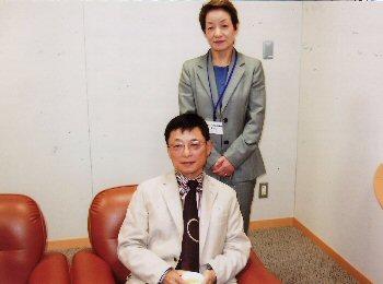 講演当日の主催者:長谷川館長とともに